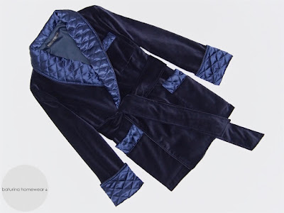 navy velvet mens smoking jacket warm soft quilted silk shawl collar dressing gown cigar smoker robe dapper dandy gentleman english style