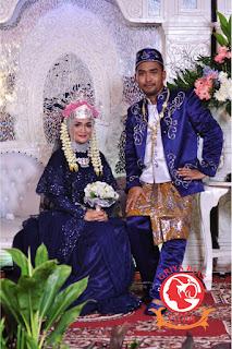 pengantin betawi busana biru