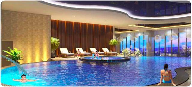 Bể bơi bốn mùa chung cư Housinco Grand Tower