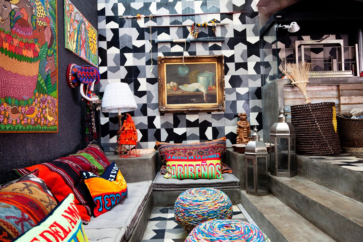 the boo and the boy: funky and eclectic family home