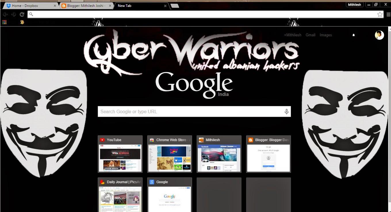 Anonymous Google Chrome Theme Offline 2015 New Theme Arrive