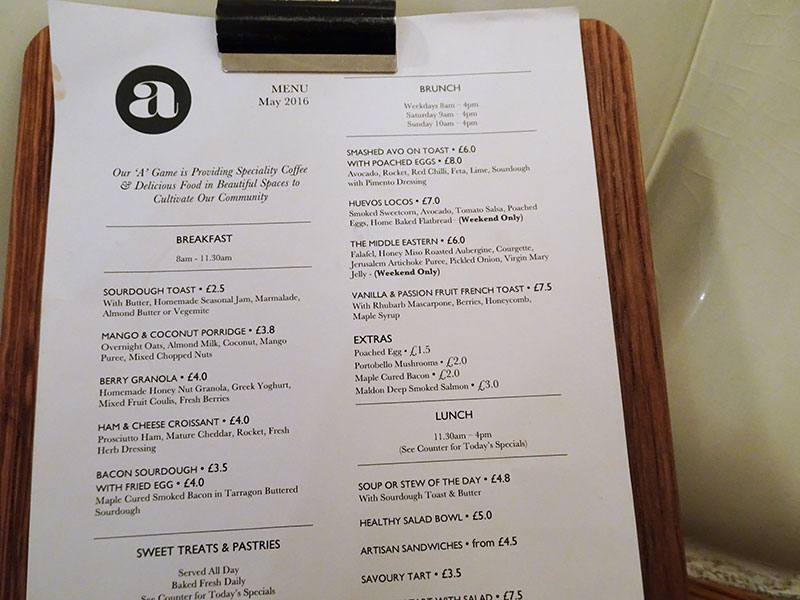 London_Attentdant_Toilet_Cafe Menu