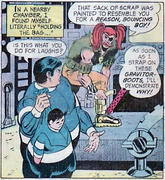 Bouncing Boy and (Adam) Otto Orion Junior. Legion of Super-Heroes #199