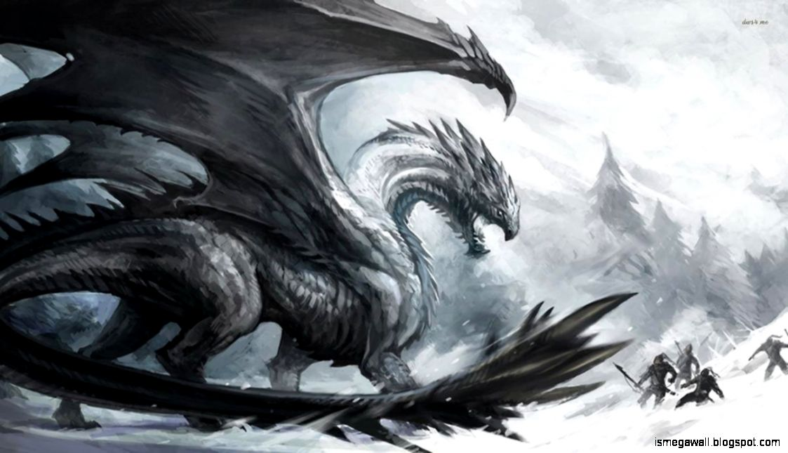 View Original Size My Free Wallpapers Fantasy Wallpaper Black Dragon Image Source From This
