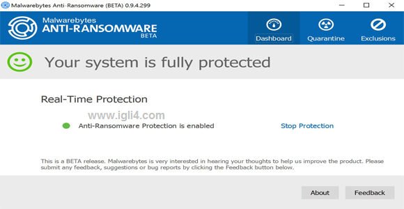 برنامج Malwarebytes Anti-Ransomware