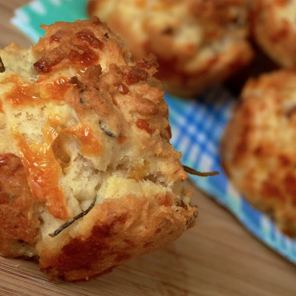 Cheddar, Sausage, Rosemary Biscuits