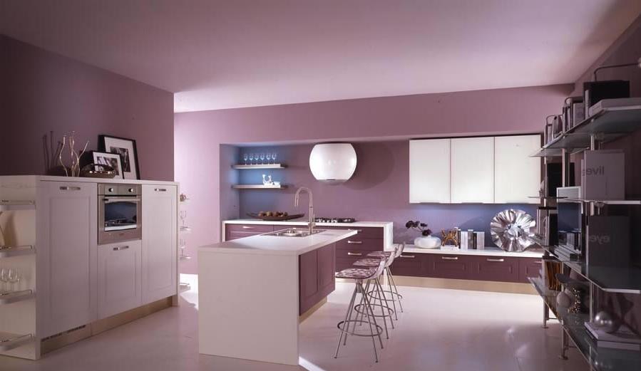 diseño cocina lila