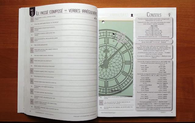 """Recenzje #3 - """"Francuski w tlumaczeniach cz.2"""" - przykładowe strony 3 - Francuski przy kawie"""