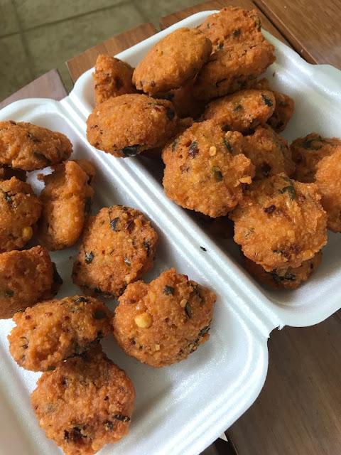Street food, Mauritius, gateau piment
