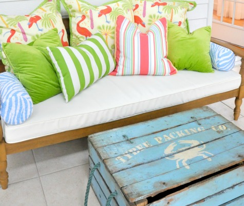 Old Wooden Crate Coffee Table