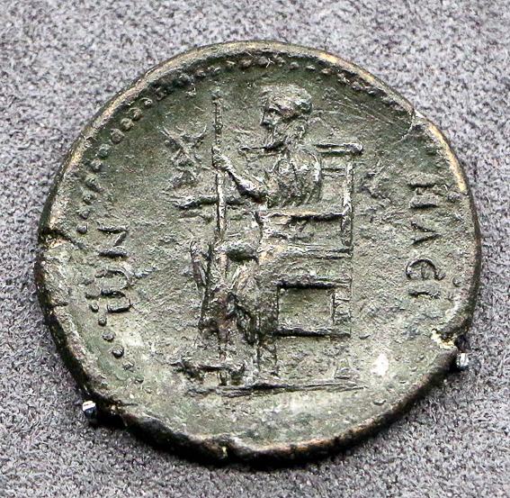 Moneda de la estatua Zeus. Las 7 maravillas del mundo antiguo