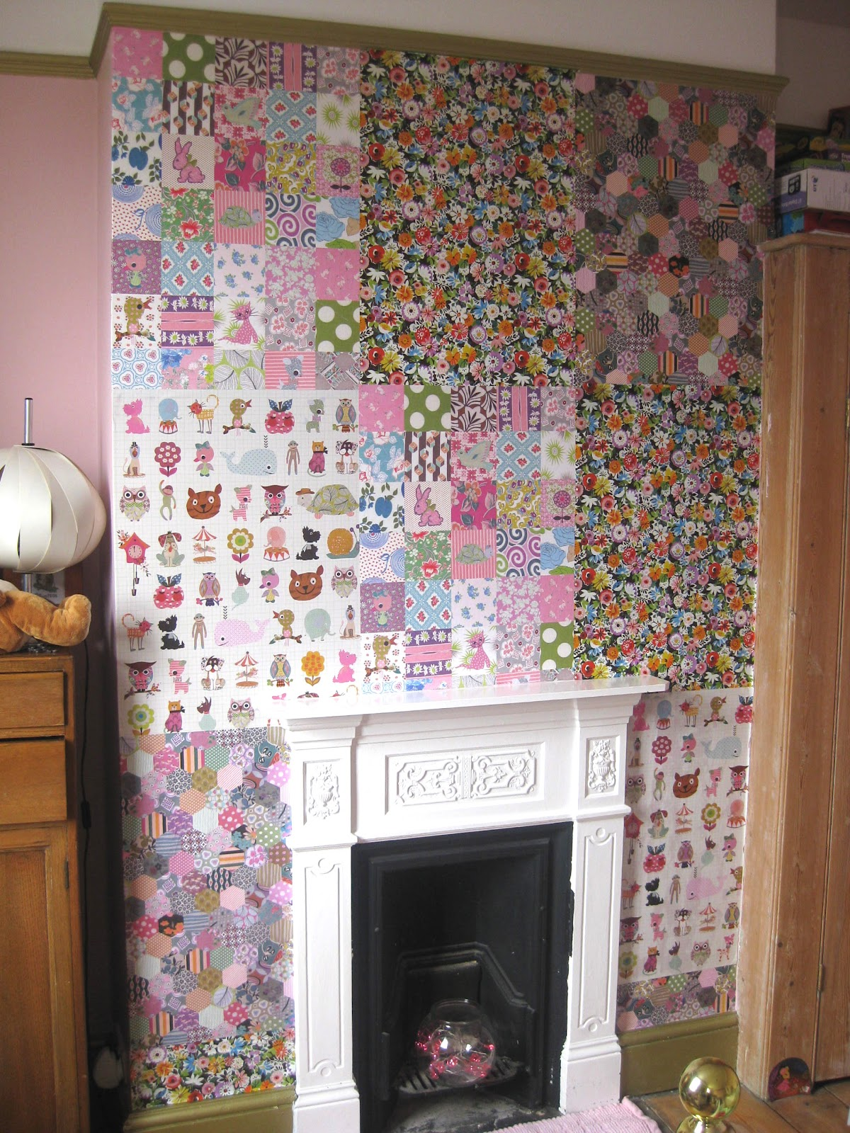 Chimney Breast Wallpaper Ideas Birch Trees Wallpaper Would Like