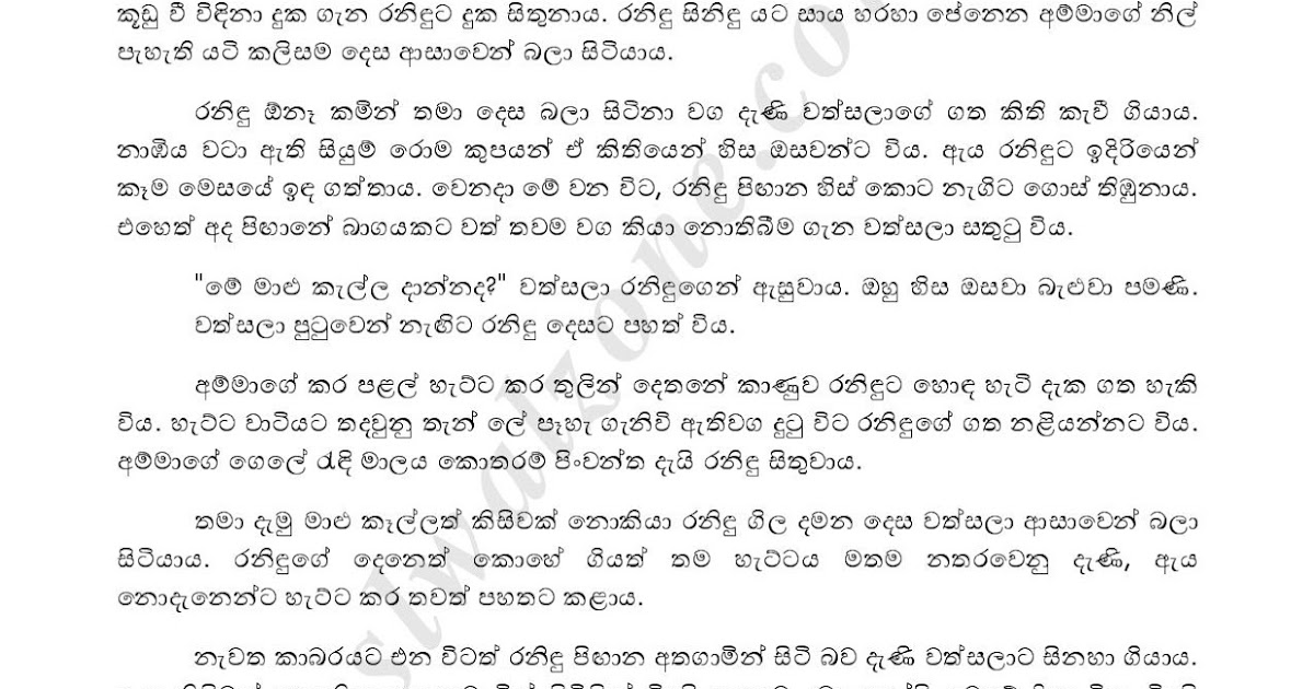 Wal Katha Navarasa: Sinhala Wal Katha Amma අම්මයි මමයි වල් කතා: Asammatha 3