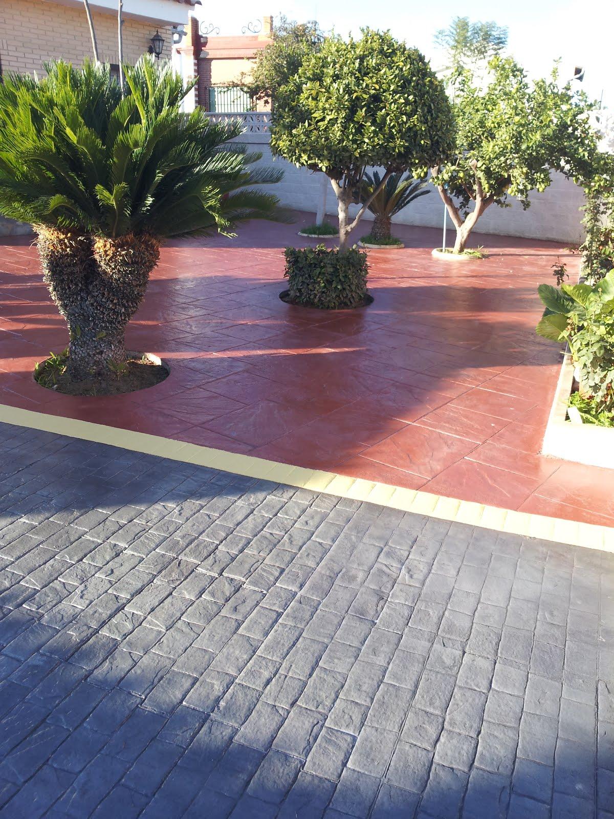 Hormigon impreso villena cemento impreso en villena for Cemento estampado precio