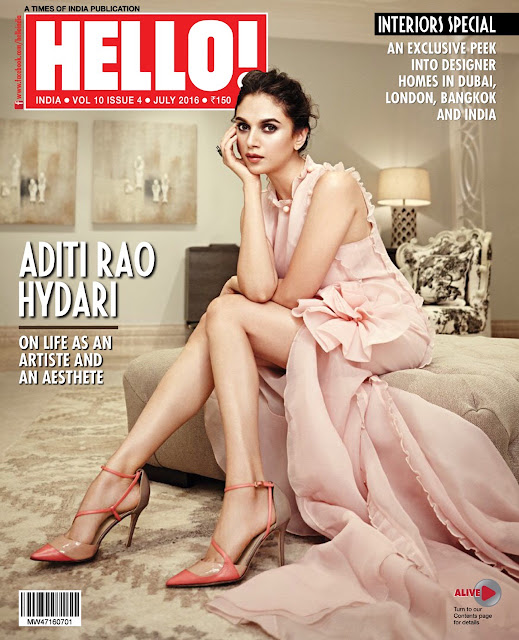Actress, @ Aditi Rao Hydari - Hello India, July 2016