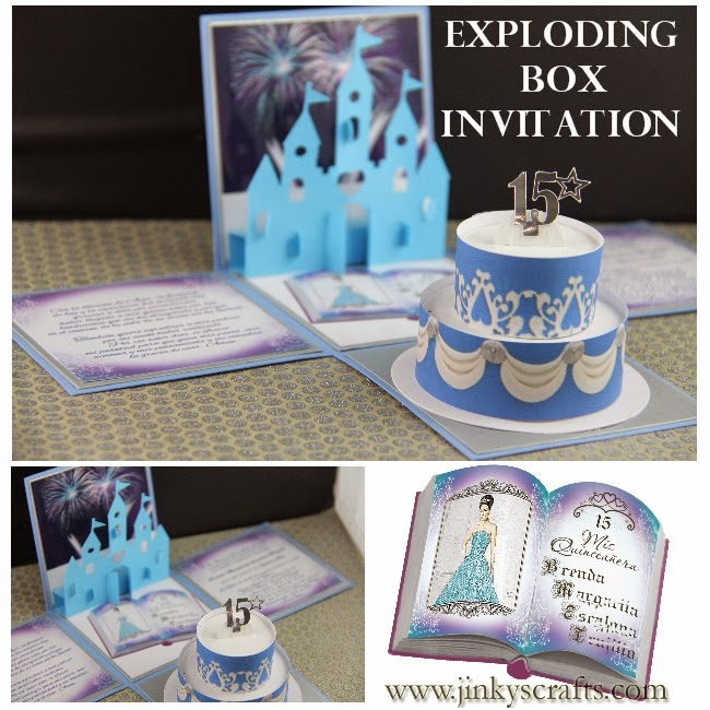 Jinky S Crafts Amp Designs Disney Quinceanera Exploding Box
