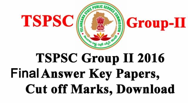 TSPSC Group 2 Exam Final Answer Keys 2016