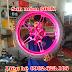 Sơn mâm xe Exciter 150 màu hồng cực đẹp