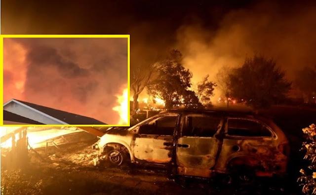 Incendios, autos, bosque, llamas,