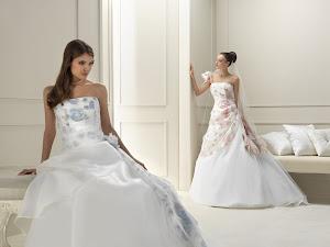 abiti da sposa a fiori Gritti 2014