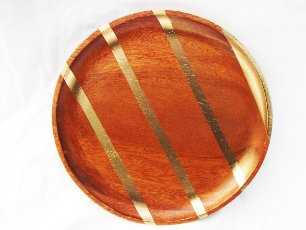A Painted Gold Wood Platter A Daily Somethinga Daily