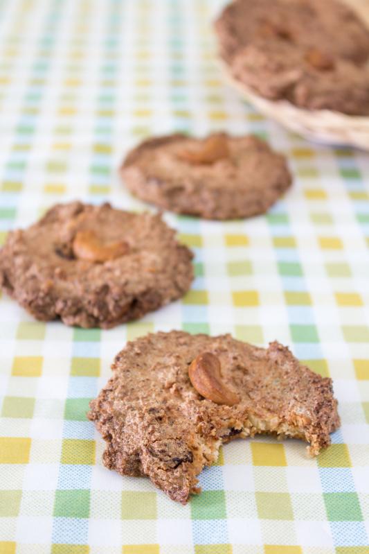 galletas de coco y anacardos
