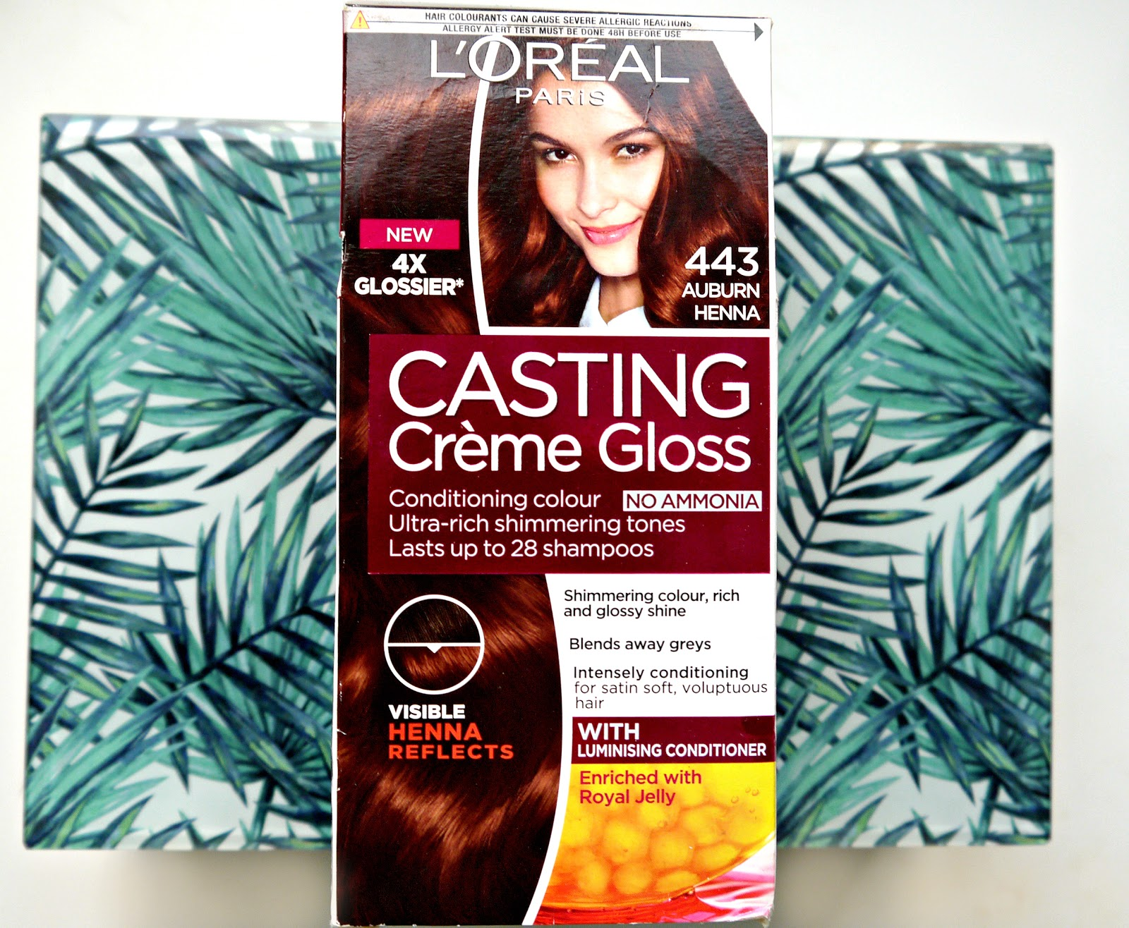 L Oreal Casting Creme Gloss 443 Auburn Henna My Hair Before
