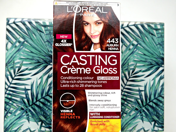 L'Oreal Casting Creme Gloss '443 Auburn Henna' // My hair before + after