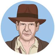 Indiana Jones y la última cruzada, 1989: INDIANA JONES: un arqueólogo que busca a su padre y al Santo Grial.