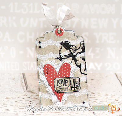 valentine card bookmark