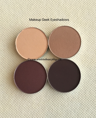 Makeup Geek Eyeshadow (creme brulee, americano, peach smoothie, cherry cola)
