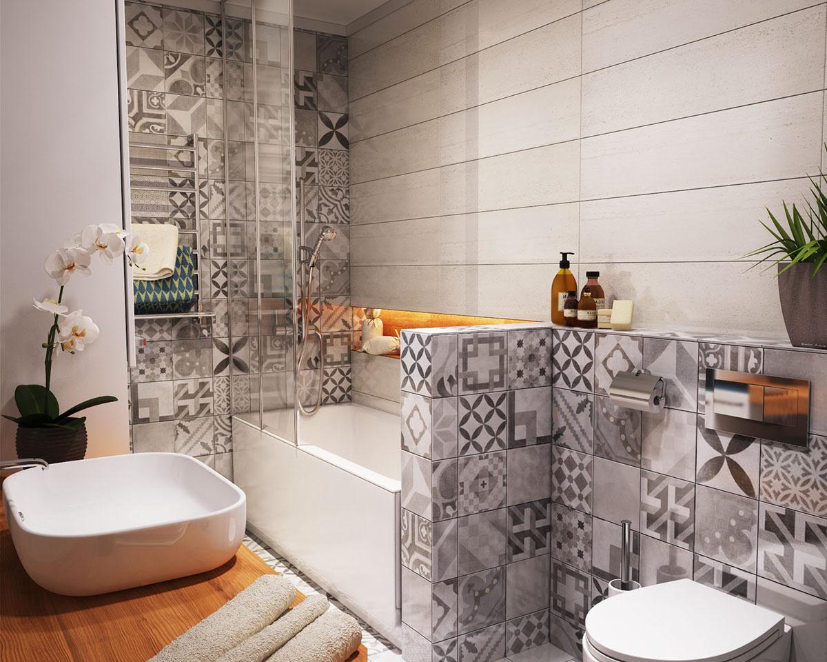 studio apartment bathroom designs