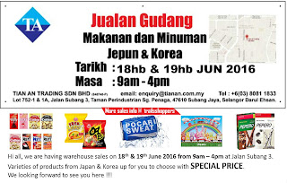 Japanese & Korean Food Drinks Warehouse Sales