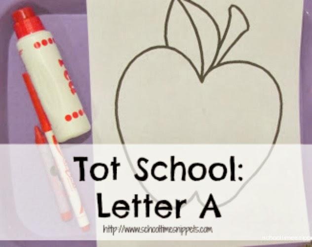 Tot School Letter A Activities