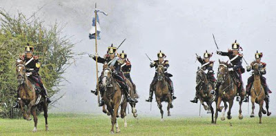 Foto del Combate de San Lorenzo camino a la batalla