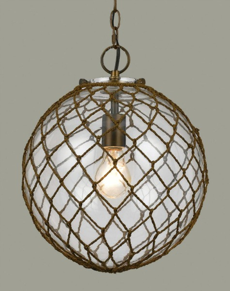 Rope Net Glass Bubble Lamp