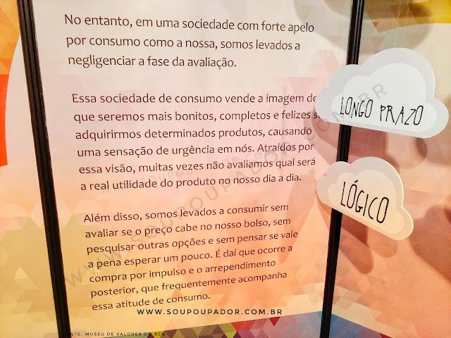 26. Visita ao Museu de Valores do Banco Central do Brasil em Brasília: Exposição: Você já parou para pensar? Exibe a mostra sobre Psicologia do Consumo