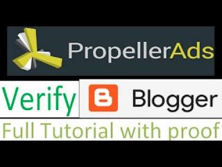 verify domain on propellerads