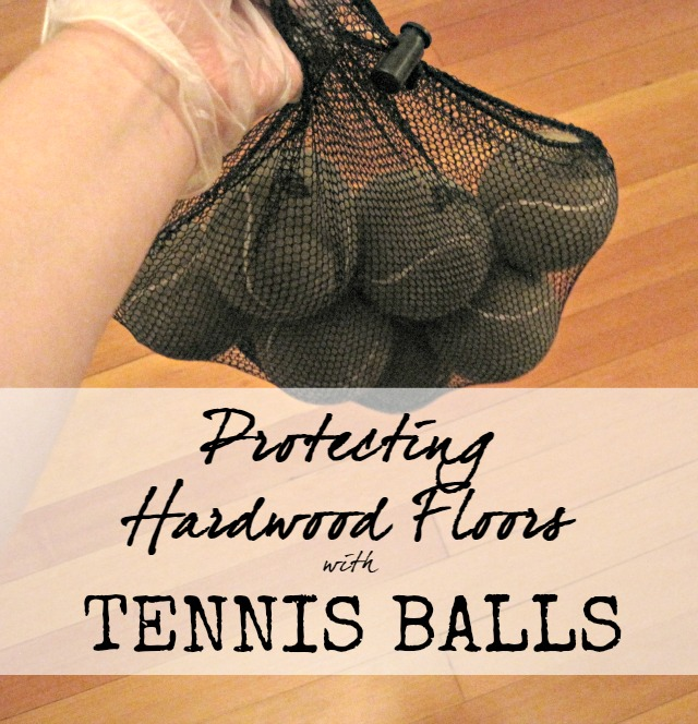 New, beautiful hardwood floors have to be protected from furniture legs- but so many protectors are expensive or just don't work... see how she protected her floor with tennis balls!