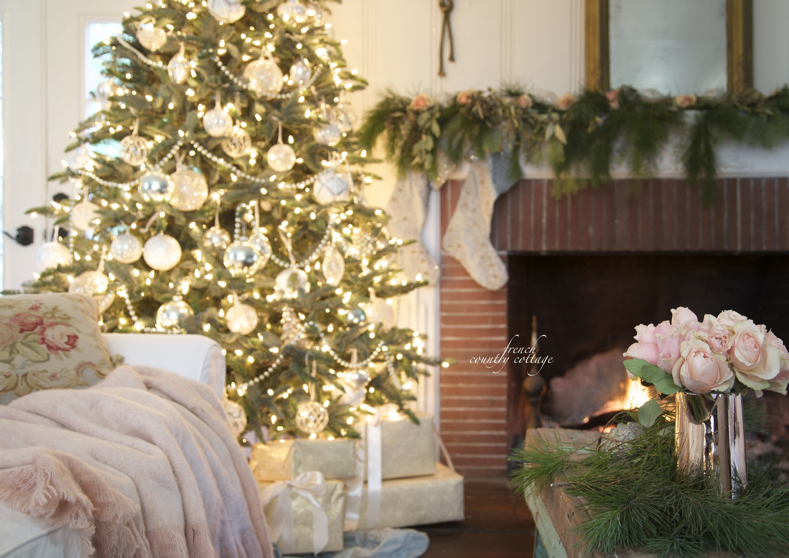 French Country Cottage Christmas Home Tour   FRENCH COUNTRY COTTAGE French Country Cottage Christmas Home Holiday Decorating
