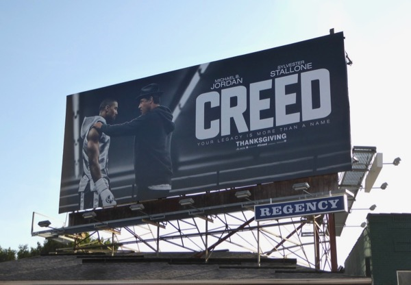Creed film billboard