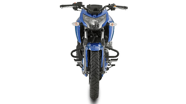New 2018 TVS Apache RTR 160 4V Blue profile