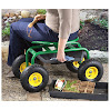 CASTLECREEK Rolling Garden Seat with Built-in Tray