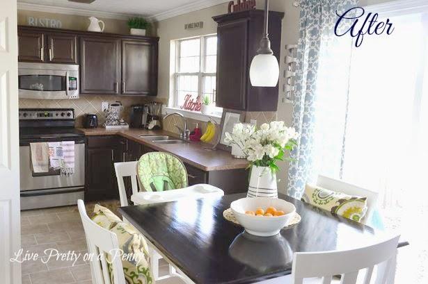 white to dark kitchen cabinets