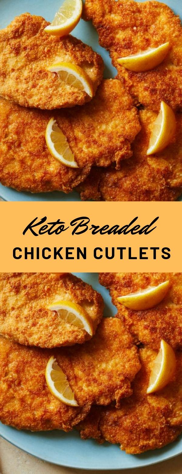 Keto Breaded Chicken Cutlets #chicken #dietfood #glutenfree #keto #lowcarb