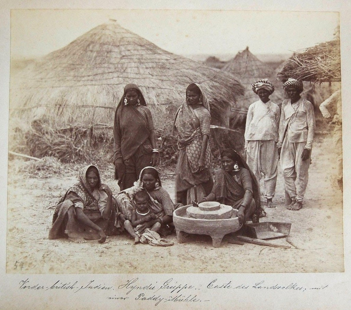 Group of Villagers - India c1880's