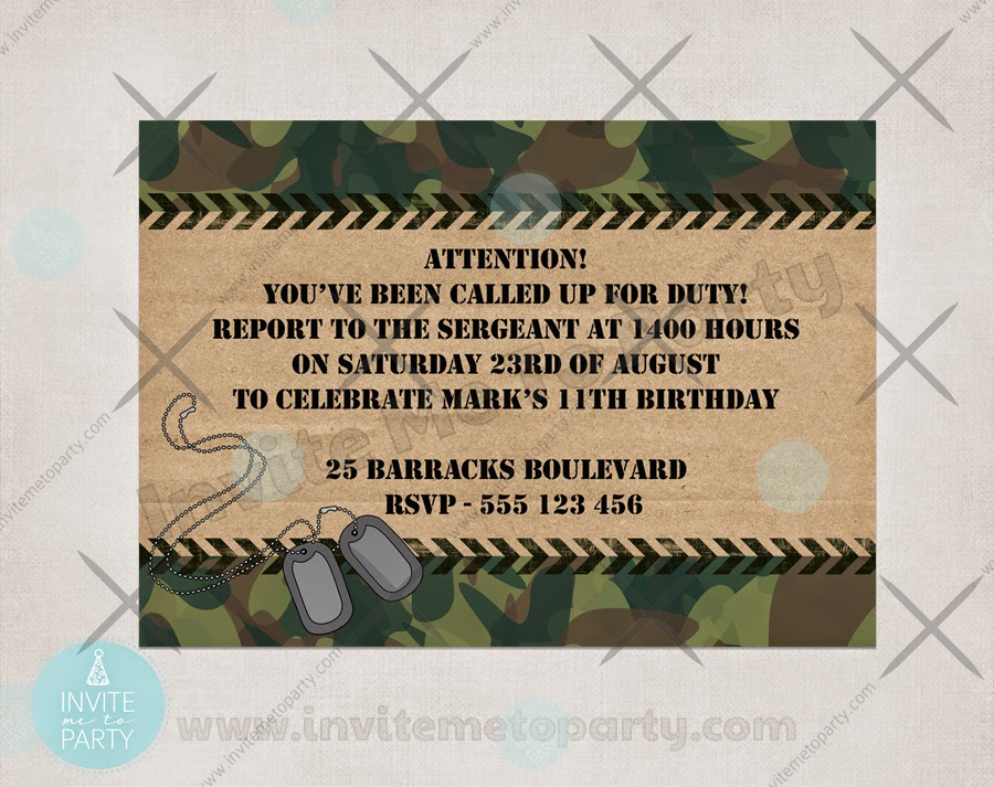 Wall  Banner Camouflage Hen Night Party Personalised ARMY Theme Photo BUNTING