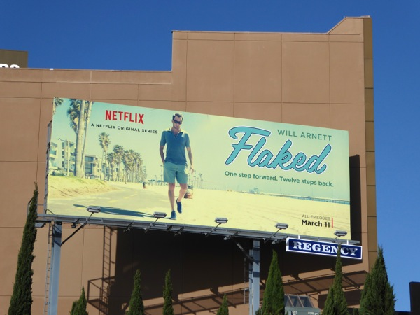 Flaked series premiere billboard