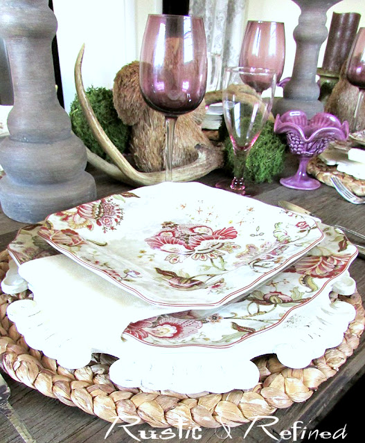 Seasonal Tablescapes for Spring using decor found around the home