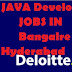 Urgent Requirement for Java Developer in Deloitte